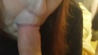 grace sucking my cock until she gets some cum