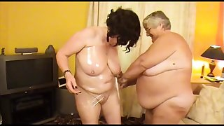 old fat slut with girlfriend wrapped in cling film