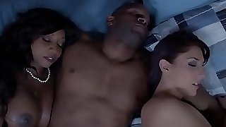 Ebony housewife and friend spunk swapping